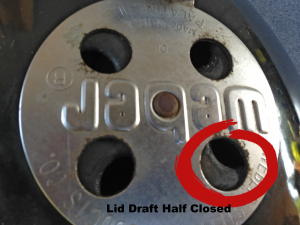 Lid Draft Half Closed