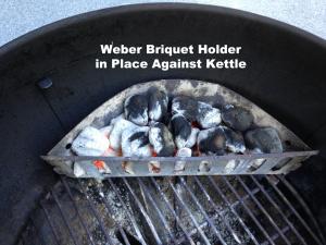 WeberBriquetholderinplace