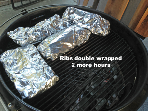 ribs double wrapped