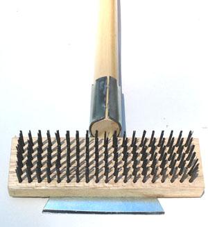 grill brush closeup